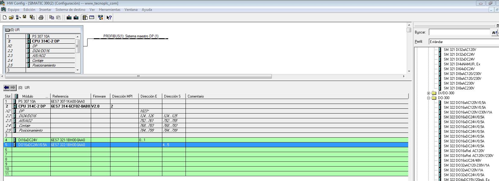 Añadir módulo de salidas digitales.