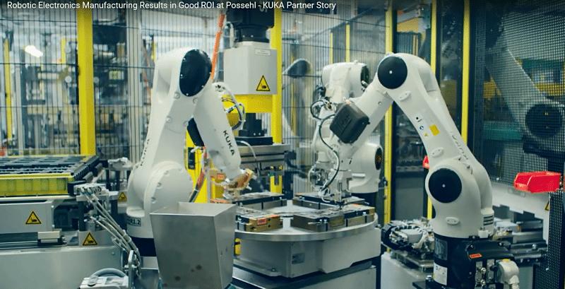 Elevada precisión en el trabajo de los robots Kuka en microelectrónica.