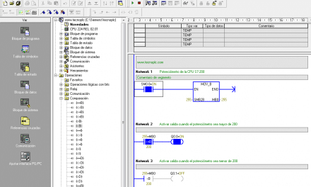 Leer potenciómetro S7-200 incorporado en la CPU