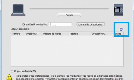 Transferir programa a Logo8 desde software Logo!Soft Comfort