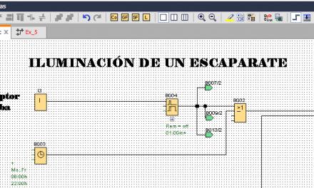 Iluminación escaparate programación en LOGO 8.