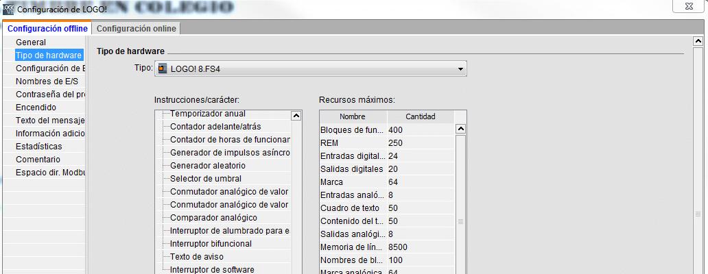 Tipo de CPU LOGO utilizada