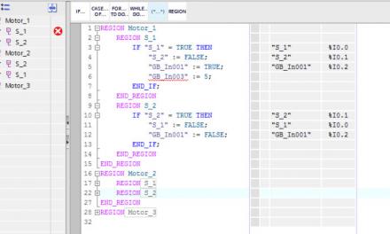 Ejemplo básico en SCL para controlar una bobina