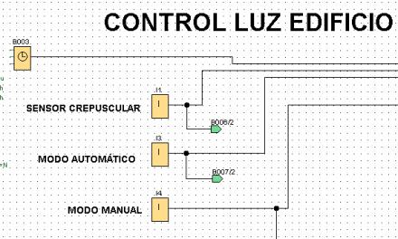 Luz edificio controlado mediante programación LOGO 8