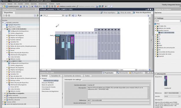 Añadir CPU Profibus en TIA Portal para establecer una conexión