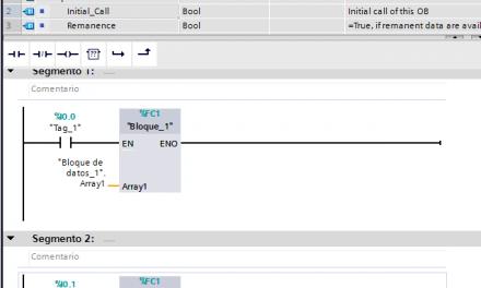 Array de dimensión variable en TIA Portal V15