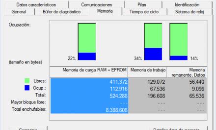 Cómo ver la memoria de CPU en proyecto Step7.