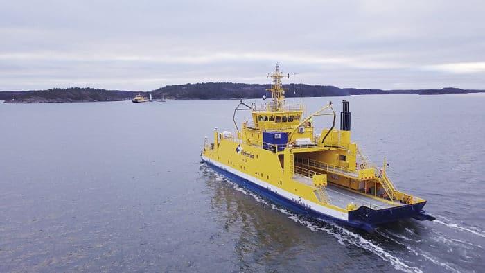 Ferry autónomo del operador estatal finlandés Finferries