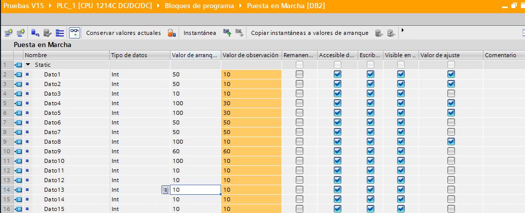Modificar los valores de los datos seleccionados.
