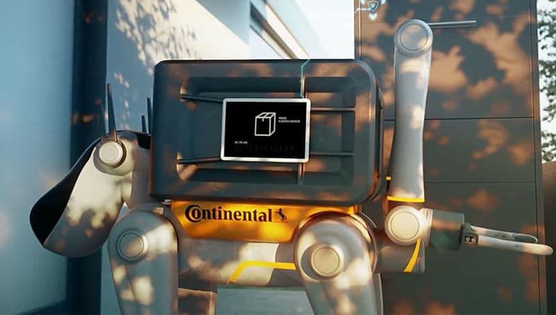 Perros-robot de continental para el servicio de entregas a domicilio