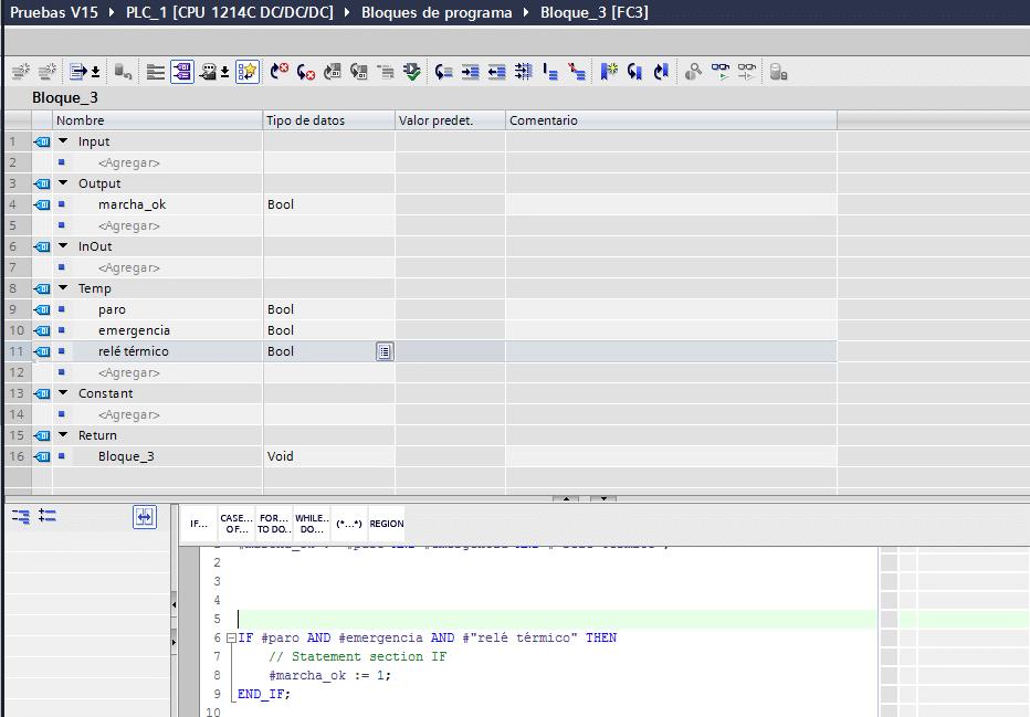 Utilización de AND en SCL dentro de un IF.