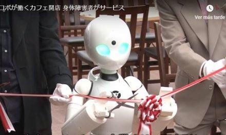 Robots en una cafetería en Japón atienden a los clientes