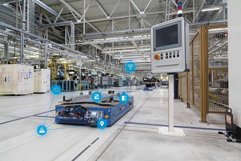 Vehículos guiados automáticos en procesos de fabricación