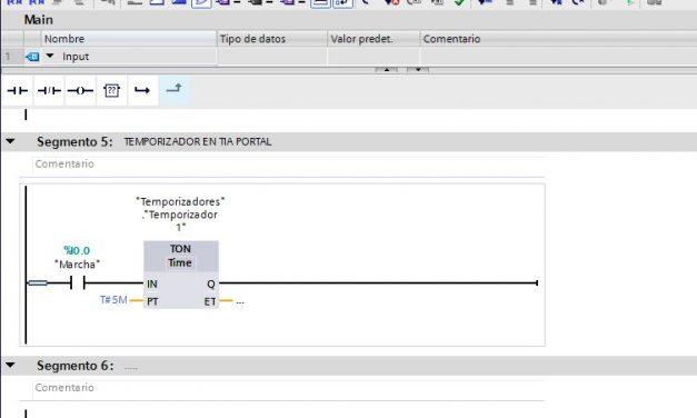 Temporizador en TIA Portal consejos y manejabilidad