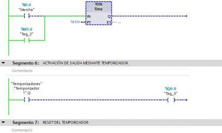 Reset en temporizador TIA Portal cómo hacer reset
