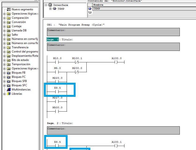Recablear variables cambiar un valor por otro Step7