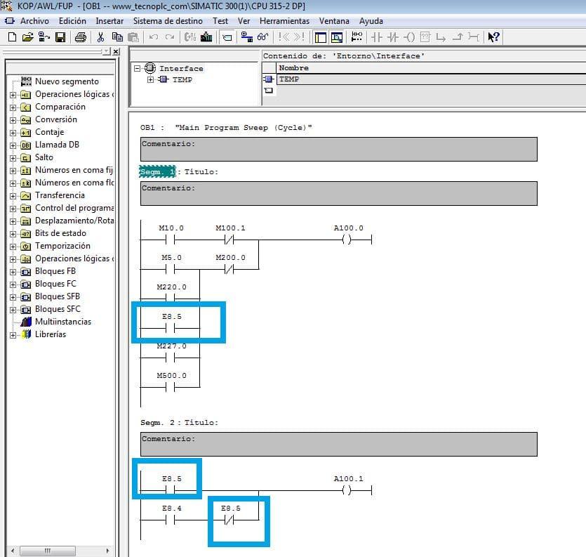 Variable nueva actualizada en todo el programa después de recablear variables.