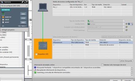 Forzar variable en SCL durante la simulación TIA Portal