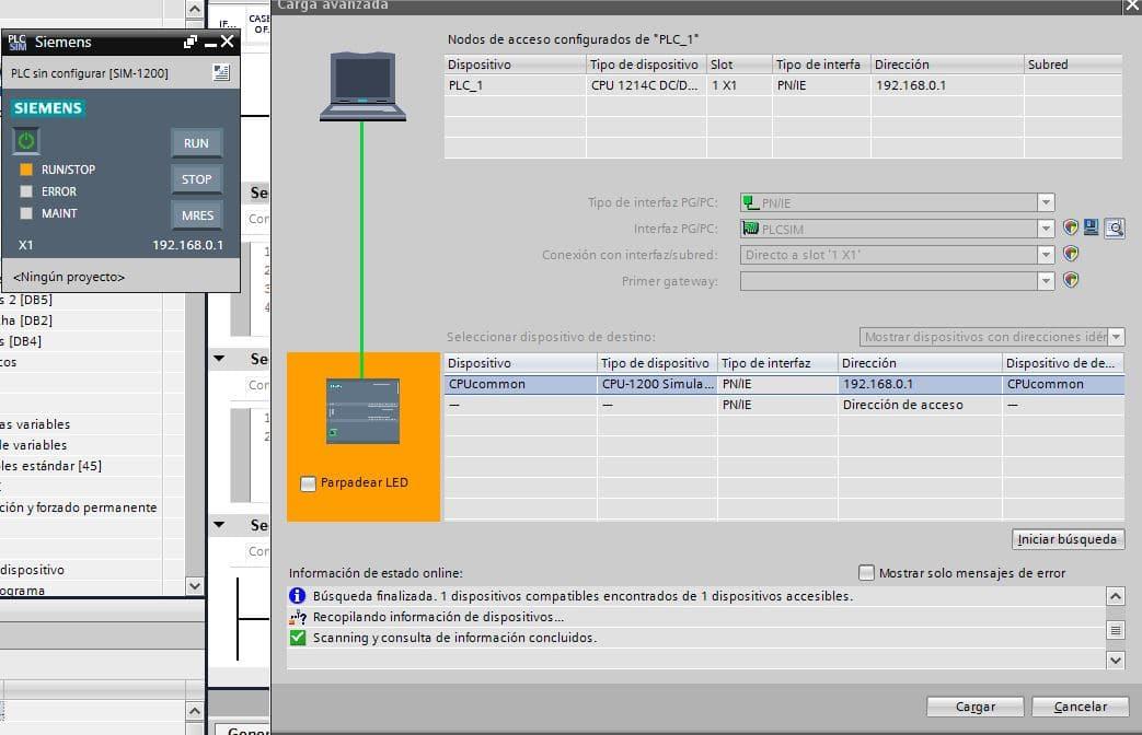 Búsqueda finalizada para simulación de la CPU.