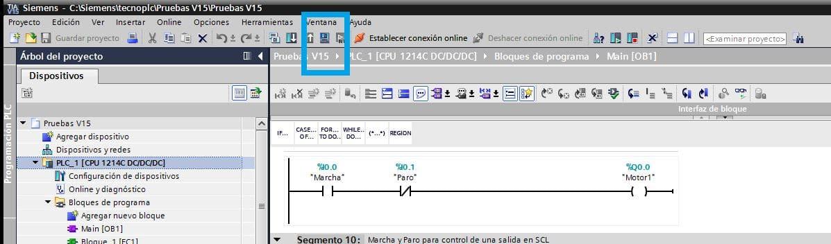 Seleccionar Runtime en TIA Portal.