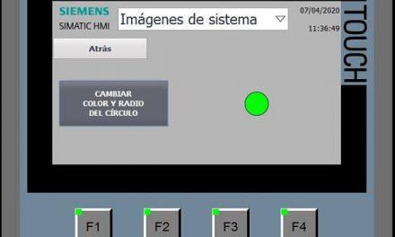 Script cambiar color círculo y radio del círculo HMI TIA Portal