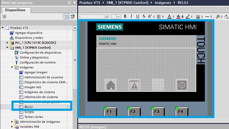 Crear pantalla para ejecutar las funciones de Reloj