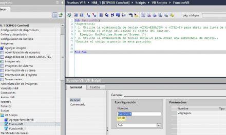 Crear Script en HMI TIA Portal: iniciación