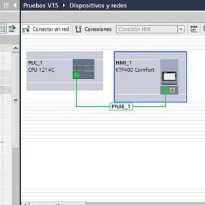 PLC y HMI en la misma Red Profinet en el mismo proyecto TIA Portal