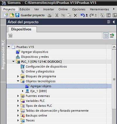 Agregar objeto tecnológico en TIA Portal