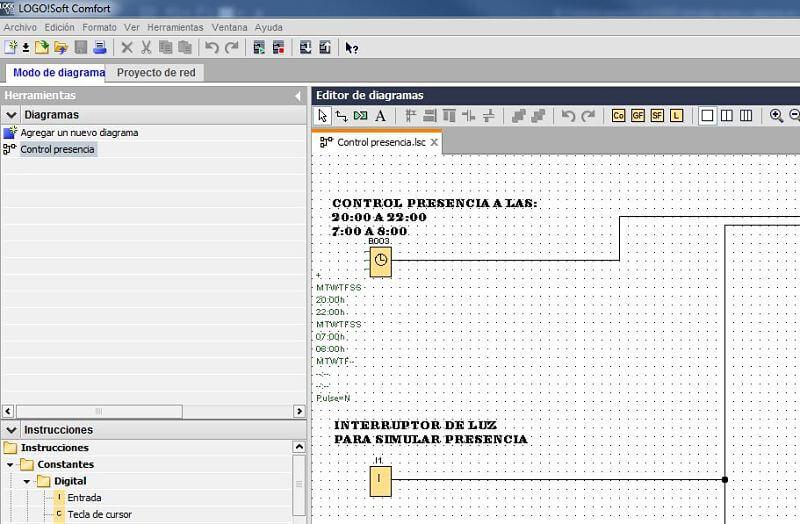 Componentes Software utilizados en el proyecto control presencia LOGO 8