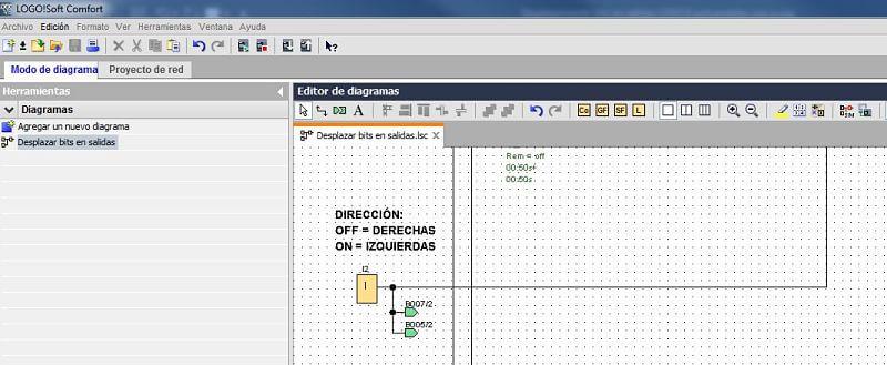 Entrada para determinar el sentido de activación de salidas LOGO 8