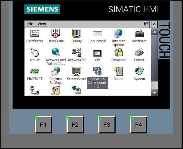 Icono Service and Comissioning para el Backup programa HMI