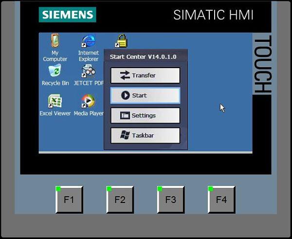 Opciones para acceder al panel de control de la HMI Siemens
