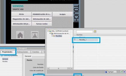 Plantilla TIA Portal HMI cómo utilizarla y asignar a cada pantalla