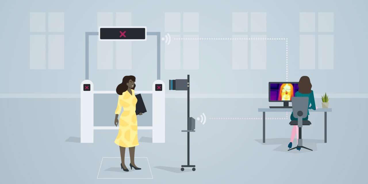 Medir temperatura corporal entrada de edificios con Siemens
