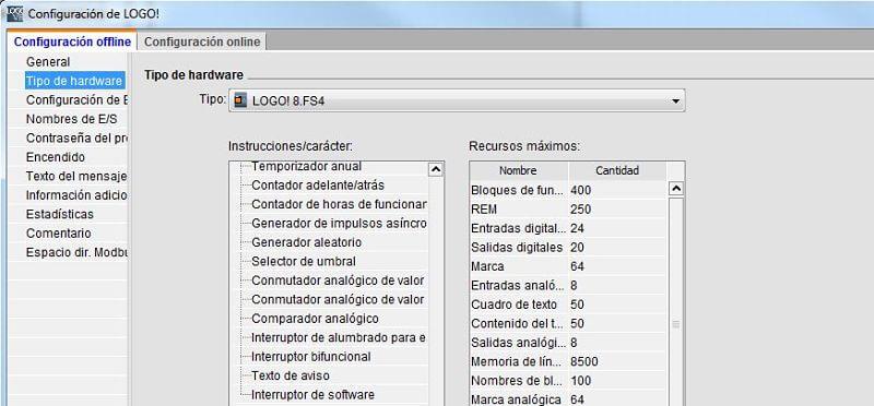 Tipo de CPU LOGO 8 utilizada para el proyecto