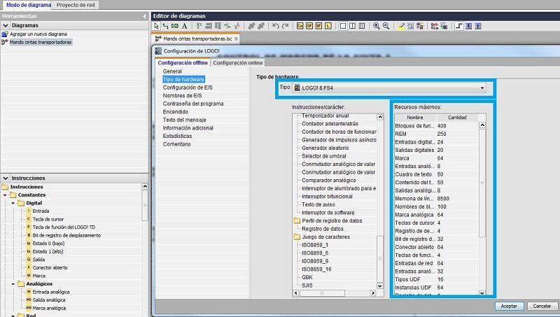 Cambiar versión LOGO en programa según modelo CPU LOGO