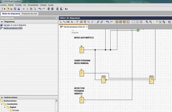 Componentes Software utilizado en control persianas LOGO 8