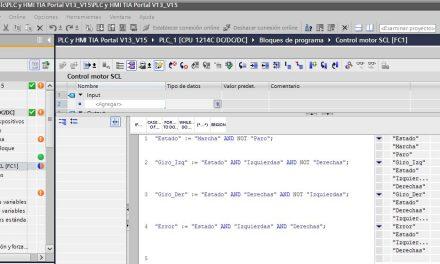 Programación SCL control motor simple marcha paro TIA Portal