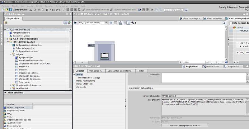 Cambiar Firmware HMI TIA Portal modificar aparato y versión
