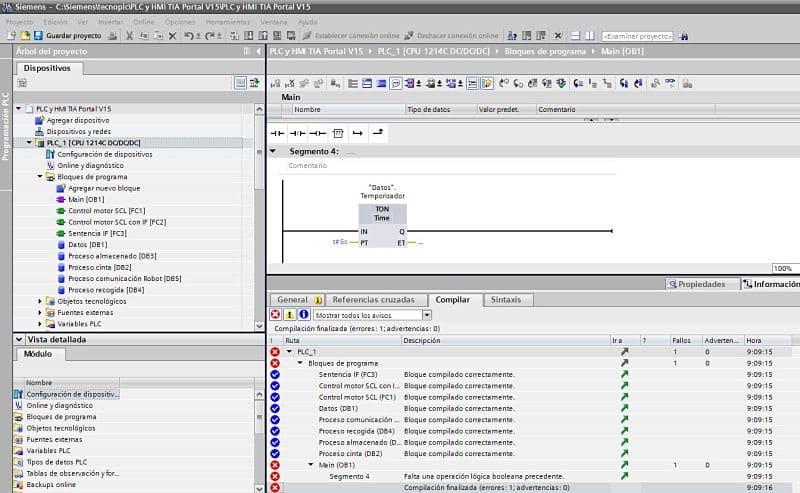 Compilar TIA Portal todo el proyecto de forma general