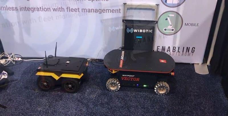 Espera entre varios robots para el proceso de carga