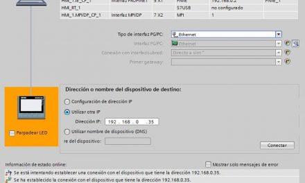Modo de transferencia en HMI seleccionarlo en Control Panel