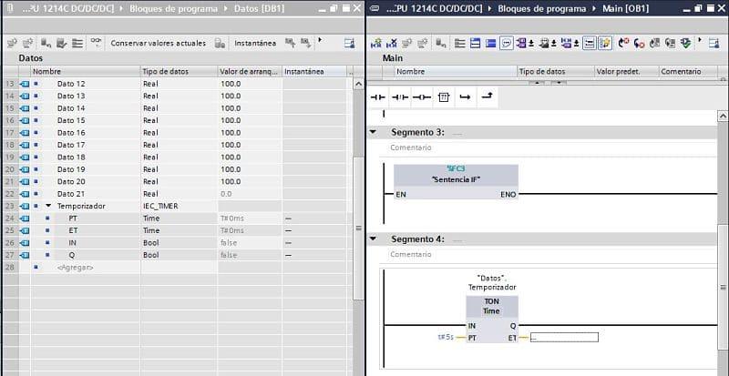 TIA Portal reconoce el temporizador después de la compilación