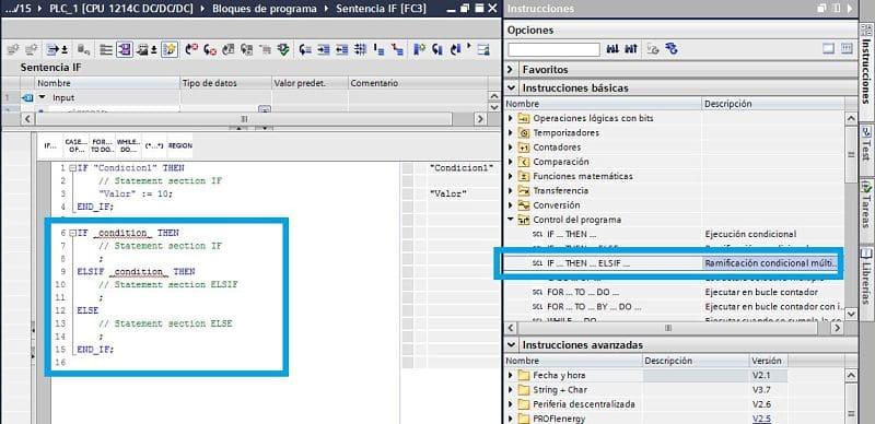 Utilizar IF junto con ELSEIF en SCL TIA Portal