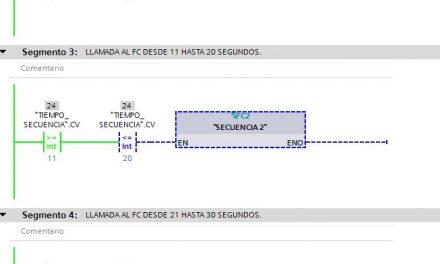 TIA Portal secuencia lectura de datos en un FC por tiempo