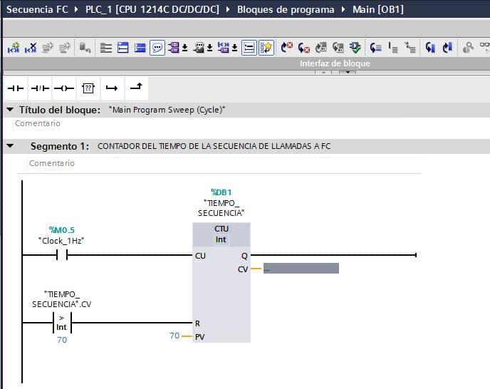 Volver a empezar en TIA Portal secuencia lectura de datos de los FC
