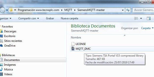 Abrir librería comprimida en TIA Portal archivado como ZAL14