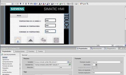 Campo entrada salida TIA Portal en HMI configuración y uso