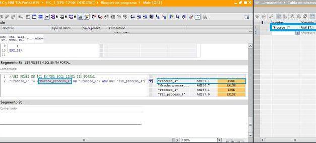 SET RESET SCL TIA Portal cómo hacer SET a una marca SCL